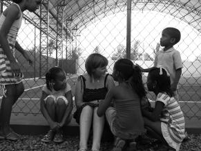 Nicola and children