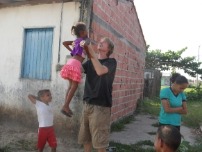 Hugh and children