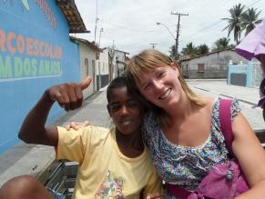 Nicola and Brazilian boy